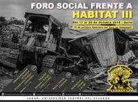 ¡Envíanos tu propuesta de actividad para el Foro Social y Popular Frente a Hábitat III, plural, diverso e incluyente de todas las voces del mundo!