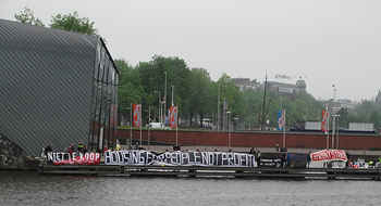 Amsterdam, Housing protests at the EU urban ministers' meeting