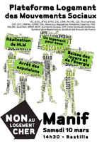 Arrêt des expulsions! Manifestations dans toute la France