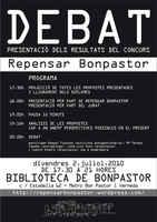 Barcelona, Repensar Bonpastor:finalización del Concurso de Ideas, JULIO 2010