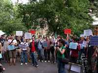 Budapest, Rally for the right to housing and against forced evictions, JUNE 2010