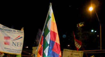 Con multitudinaria marcha inicia el Foro Social Americas, ASUNCIÓN, agosto 2010