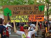 Istanbul, Urban Movements: We will not let Gezi Park, our labour, our life, our nature be touched!