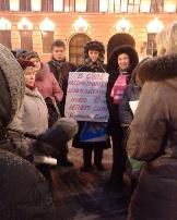 Local dormitory tenants protest in Saint Petersburg