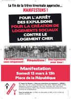Manifestation: Stop aux expulsions de logement, FRANCE, march 2010