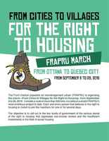 Quebec: FRAPRU march from cities to villages for the right to housing