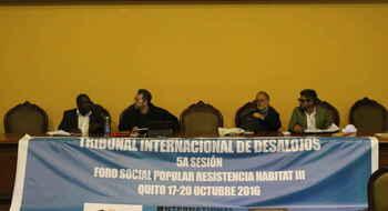 RECOMENDACIONES FINALES quinta sesión del Tribunal Internacional de Desalojos