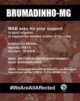 The Movement of People Affected by Dams in Brasil (@MAB.Brasil) need international support!